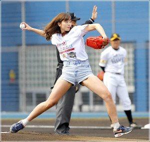 稲村亜美 始球式 2016