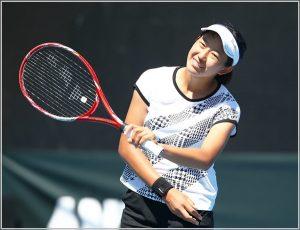 内島萌夏さん(テニス)の身長や高校はどこ